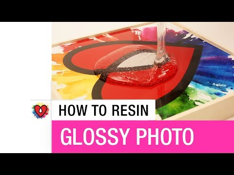 How To Resin Glossy Photo