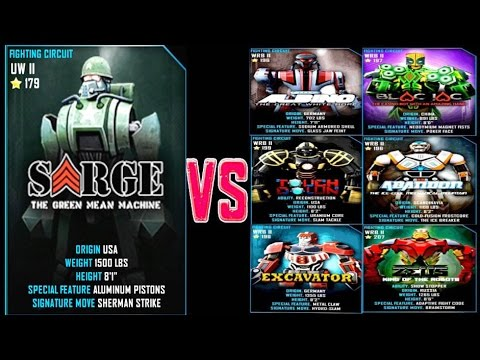 Real Steel WRB Sarge VS WRB II ROBOTS Series of fights NEW ROBOT (Живая Сталь)