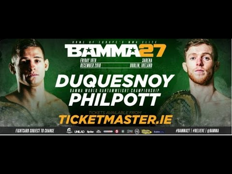 #Bamma #Fighter #AlanPhilpott On How He Will Beat #TomDuquesnoy At #Bamma27