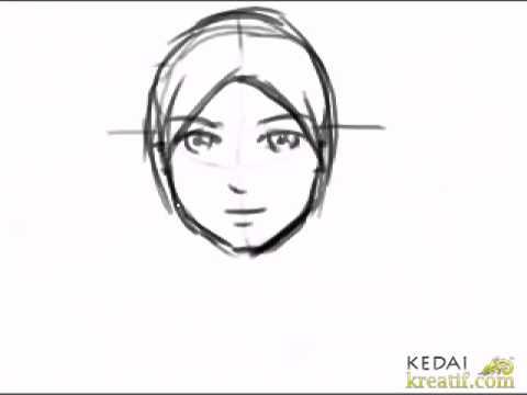 Cara Melukis Kartun Wanita Berkerudung Youtube