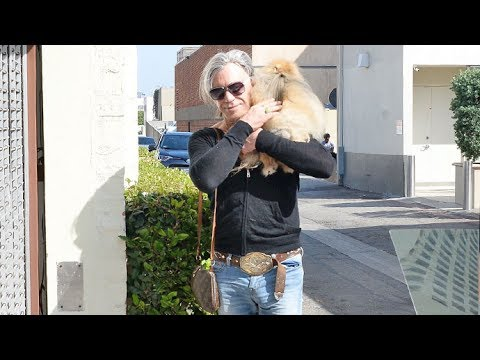 Mickey Rourke Bulging Out, Speaking Spanish And Talking Canelo Vs. GGG In Beverly Hills