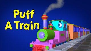 Puff a Train | Train Song | Nursery Rhymes for Children | Infobells