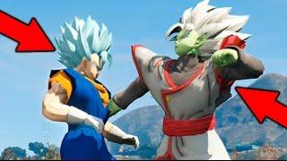 GTA V MOD VEGETO BLUE VS ZAMASU BATALLA EPICA !! DRAGON BALL SUPER GTA V MODS Makiman