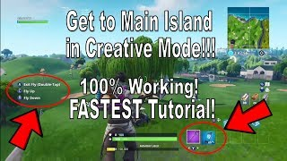 Fortnite - How to Get to Main Island in Creative Mode After Patch [Fast Tutorial, 100% Working]