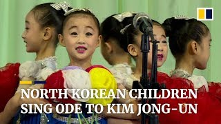 Download Video North Korean children sing ode to Kim Jong-Un MP3 3GP MP4