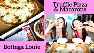 Truffle Pizza & Macarons!!! Easter Mukbang Eating show - Bottega Louie