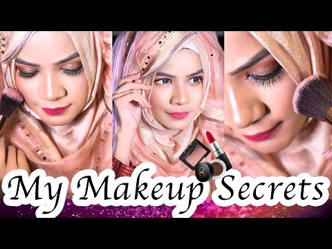 Glitter Eye Makeup Tutorial With Hijab My Makeup Secrets