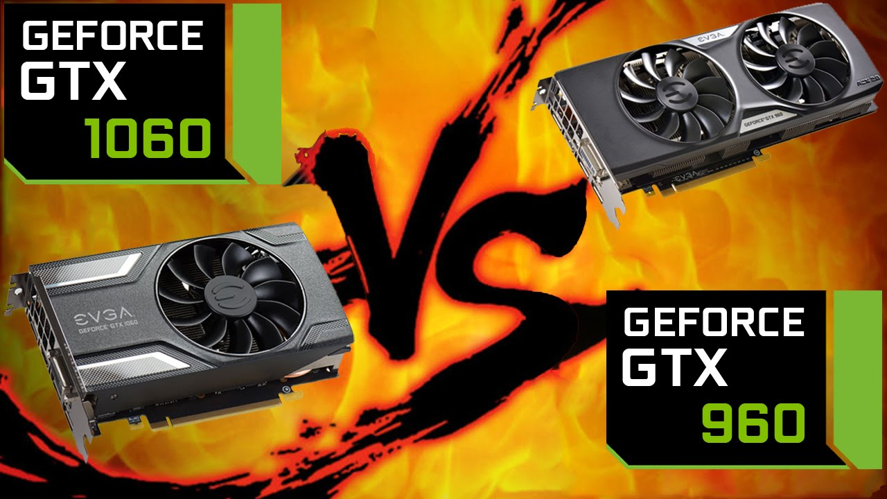 GTX 1060 vs GTX 960 - Side by Side Comparison on 7 games