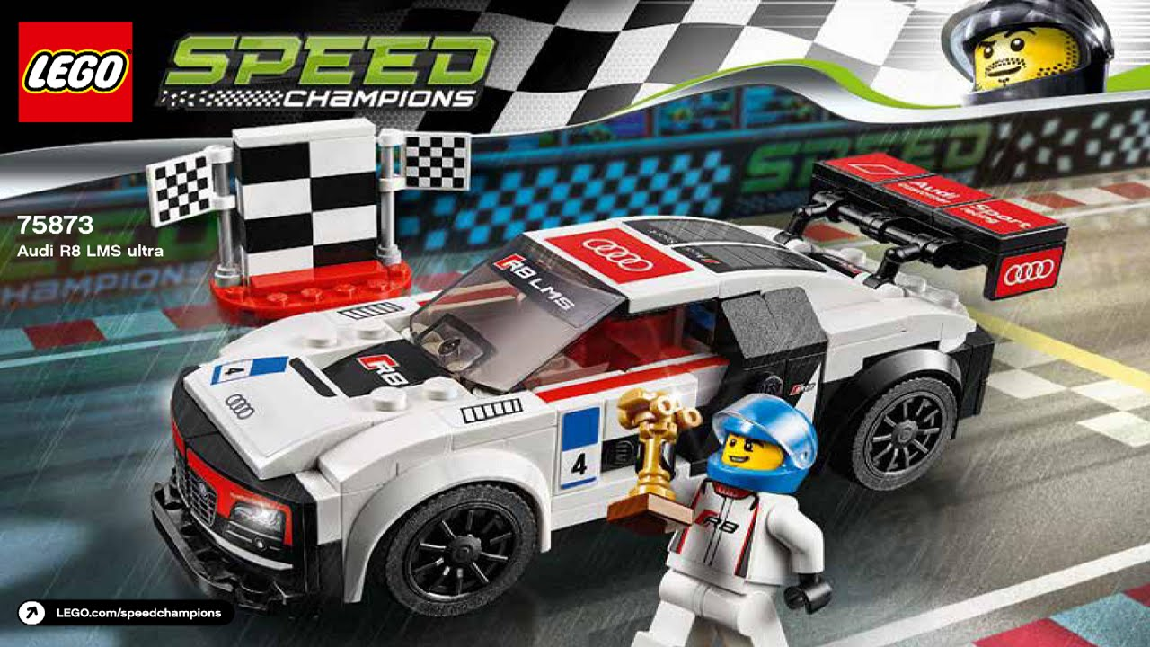 lego 75873 audi r8 lms ultra speed champions instruction. Black Bedroom Furniture Sets. Home Design Ideas
