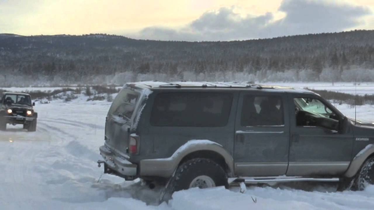 Ford Excursion Arctic Trucks Offroad Snow Youtube