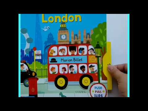 Push pull slide Hello London book by Jolly Kids Books Thailand