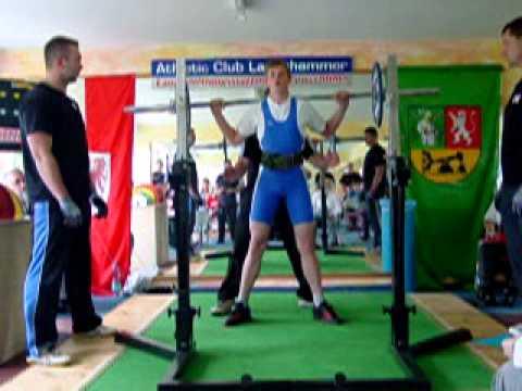 Deutsche Teammeisterschaften B-Jug. 2012 E. Völkel (AC Rüdersdorf) Kniebeugen 1.V. 70 kg