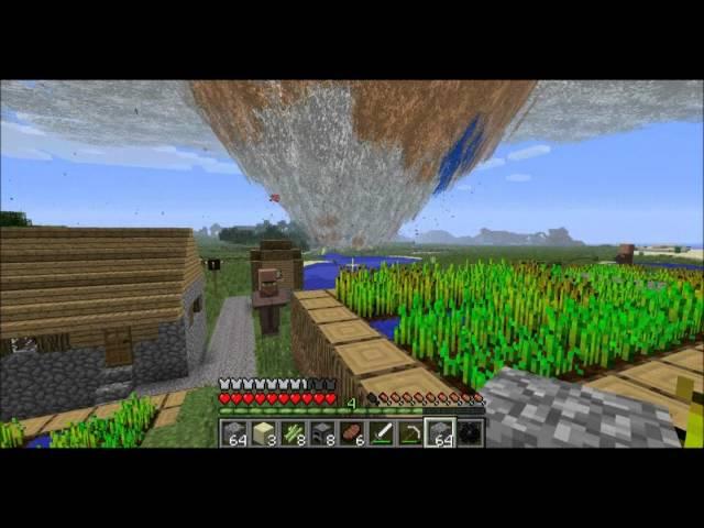 Minecraft Tornado Mod Survival Part 22: Wide Load Tornado