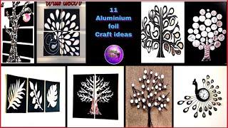 11 Aluminium foil craft ideas part - 1 | Fashion pixies | art and craft | Foil paper craft