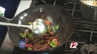 Cooking: Wok charred beef