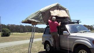 Setting Up the ARB Simpson III Rooftop Tent