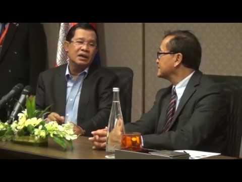 Hun Sen and Sam Rainsy in Malaysia