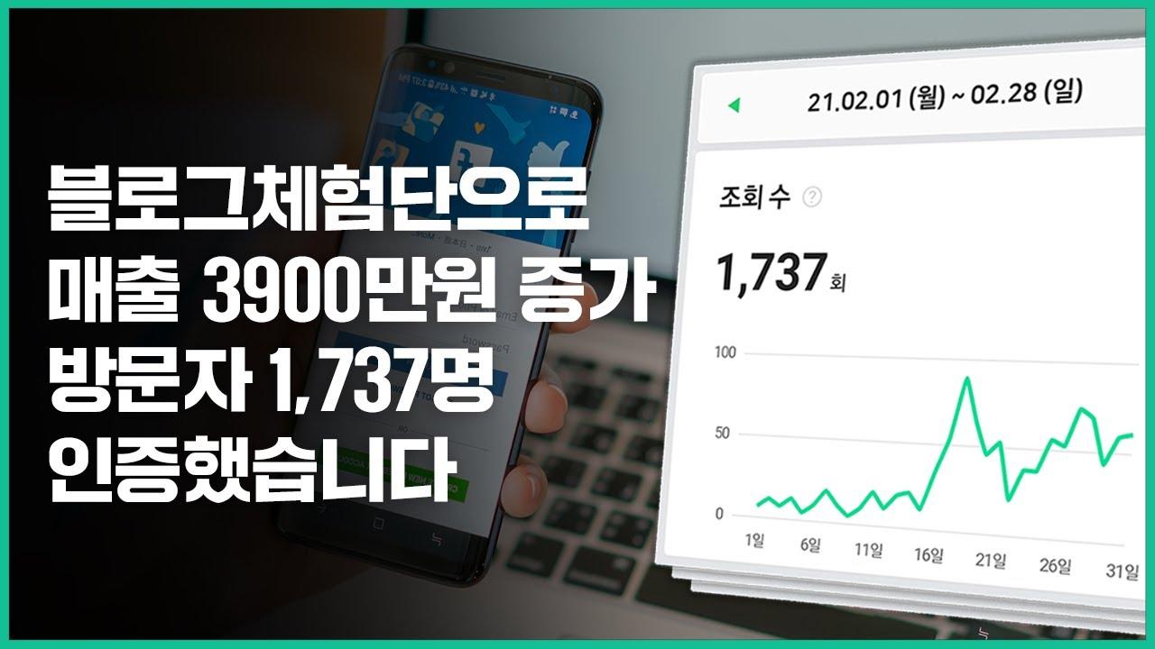 매달 블로그체험단 10건으로 월매출 3900만원 증가 찍어드렸습니다.