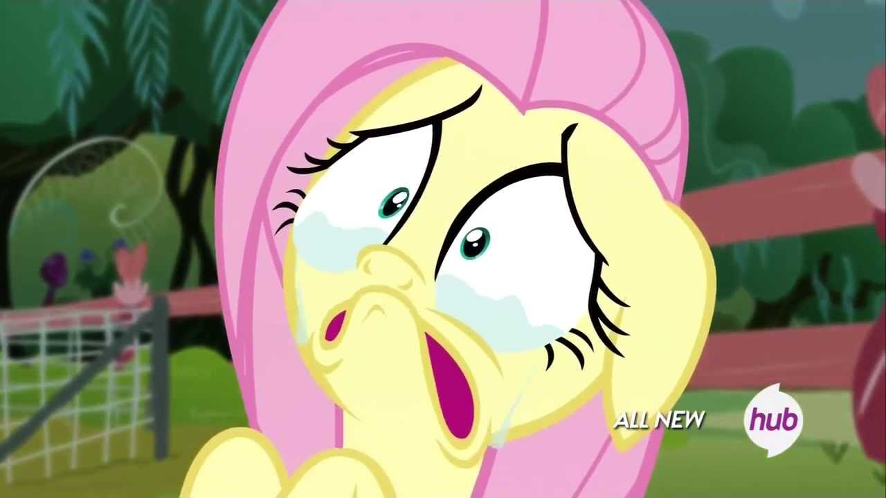 Fluttershy Scared Pinkie Pie scar...