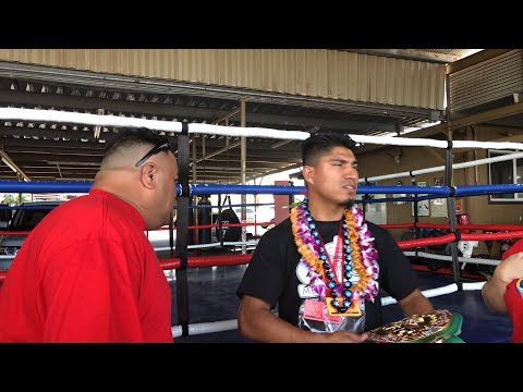 Mikey at Hawaii boxing gym