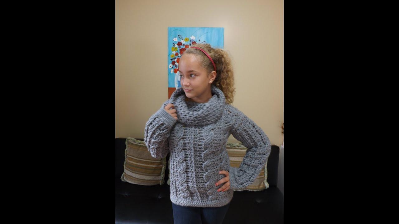Crochet Abrigo Para Adulto Con Trenzas Parte 1 Con Ruby