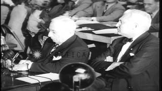 Hollywood Film Producer Louis Mayer testifies against communism at hearings of Ho...HD Stock Footage
