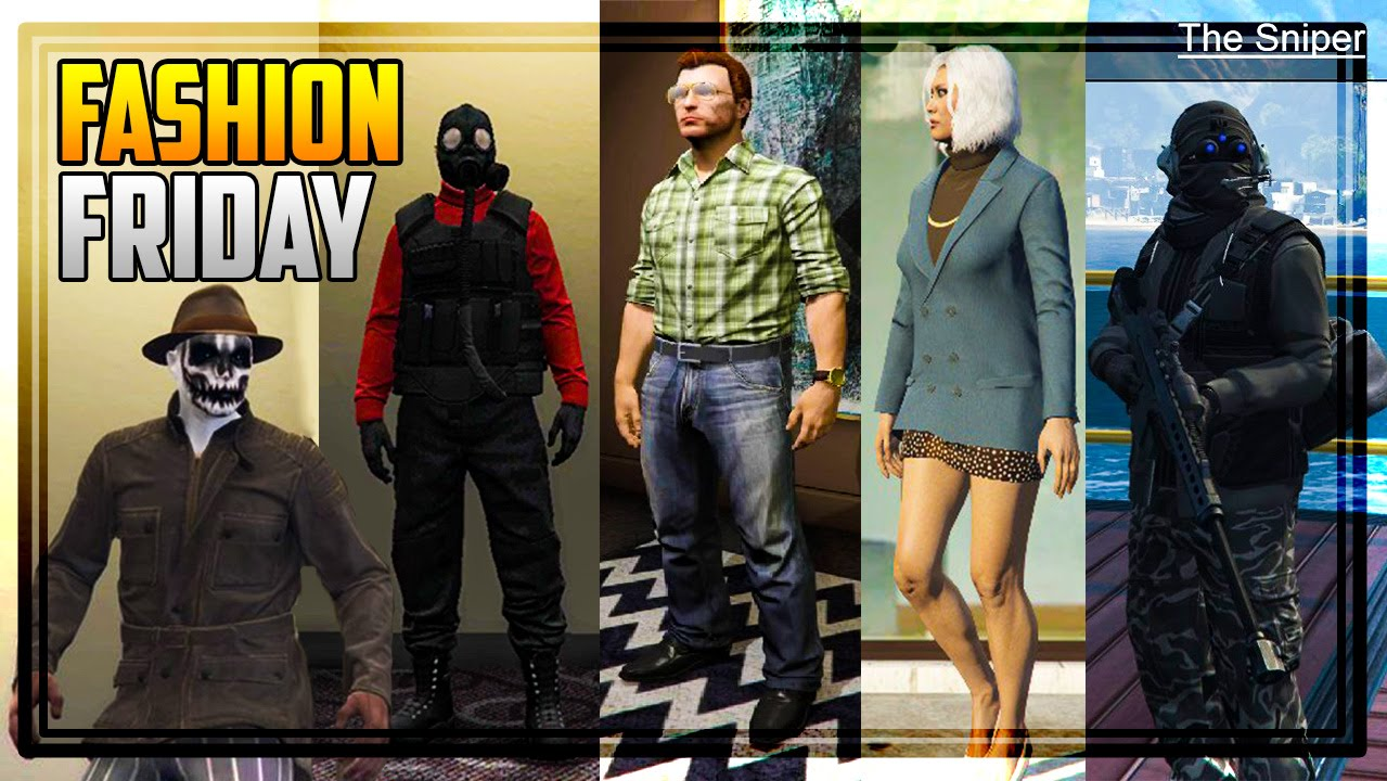 GTA 5 FASHION FRIDAY! 27 NEW OUTFITS! (The Pyro Enforcer Lester Rorschach U0026 MORE) - YouTube