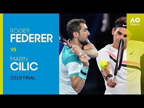 AO Classics: Roger Federer v Marin Cilic (2018 F)
