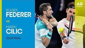 Roger Federer v Marin Cilic - Australian Open 2018 Final | AO Classics