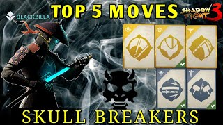 Shadow Fight 3》TOP 5 MOVES | SKULL BREAKERS