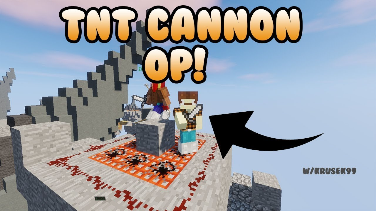 EPIC TNT CANNON ON SKYWARS!