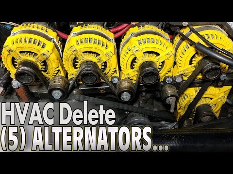 Five ALTERNATORS... But No Air Conditioning!?!?  EXTREME Car Audio Heater Core Bypass & A/C DELETE