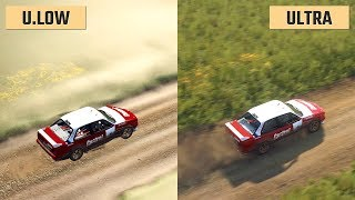 Dirt Rally 2.0 Ultra Low vs. Ultra (Graphics Comparison)