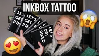 INKBOX TEMPORARY TATTOO APPLICATION + REVIEW!   Testing VIRAL Products   Abi Else