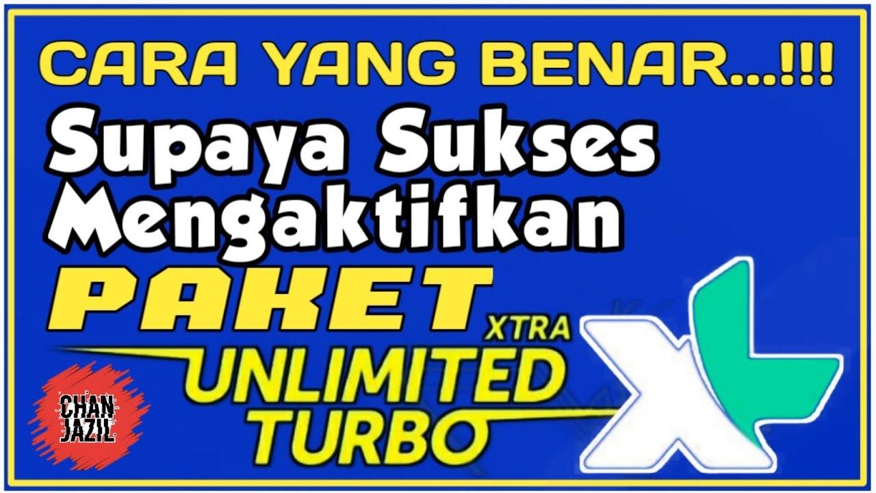 Cara Yang Benar Mengaktifkan Paket Xtra Unlimited Turbo XL ...