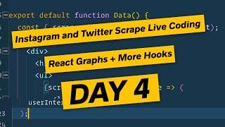 React Charting, Data Massaging and more hooks - Node.js Scraper DAY 4