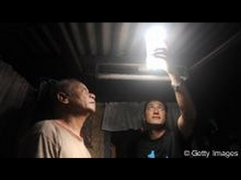 Portable solar room light inventor dennis mercader interviewed on otusa tv manny calpito show - Solar panel with plastic bottles a pensioners revolutionary invention ...