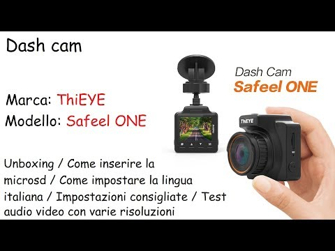 Dash Cam ThiEYE  Unboxing, Istruzioni E Test Audio Video