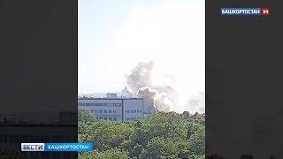Дым валит столбом: в Уфе горит частный дом