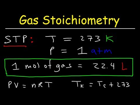 Gas Stoichiometry Problems, STP, Molar Volume, Chemistry