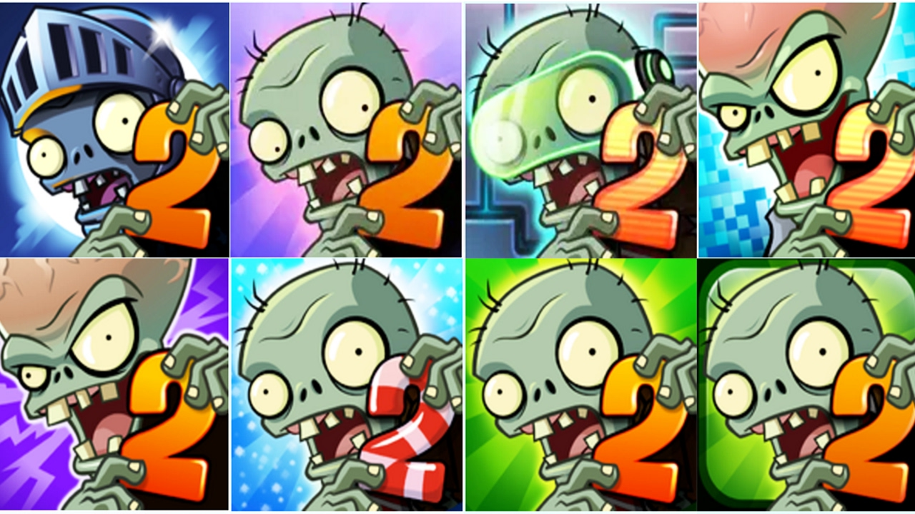 Plants vs Zombies 2: New Extended Modern Day 40 New Zombies! (PvZ 2)