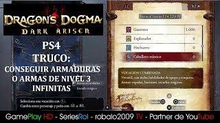 DARK ARISEN PS4 BITTERBLACK TRUCO: COMO CONSEGUIR ARMADURAS O ARMAS DE NIVEL 3 INFINITAS | SeriesRol