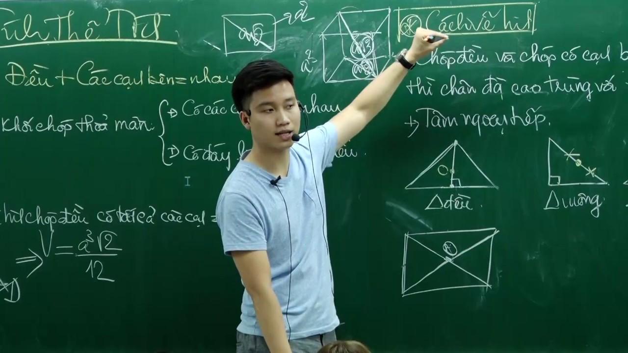Thể tích khối Đa Diện (Buổi 2) Chóp Đều + các cạnh bên bằng nhau – Thầy Nguyễn Quốc Chí
