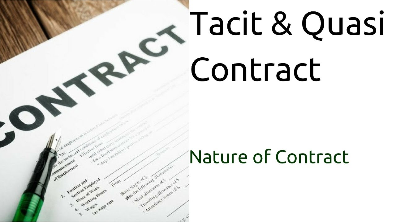 types of quasi contract with example