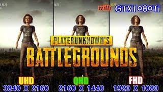 Download lagu BATTLEGROUNDS 배틀그라운드 UHD vs QHD vs FHD Benchmark test with GTX1080Ti MP3