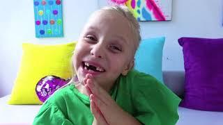 Alicia y el nuevo trampolín para el cumpleaños de papá y la pequeña Eva