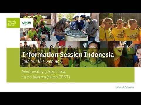 Webinar: Information Session Indonesia