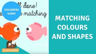 Matching Colors and Shapes | Colour Matching |  Teaching Colors Activities | Shapes and Colours