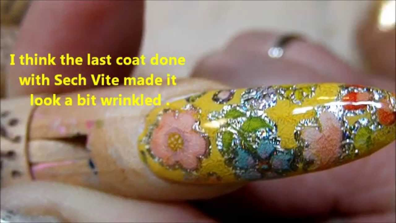 NAIL FOIL ---How to apply it ------TUTORIAL - YouTube