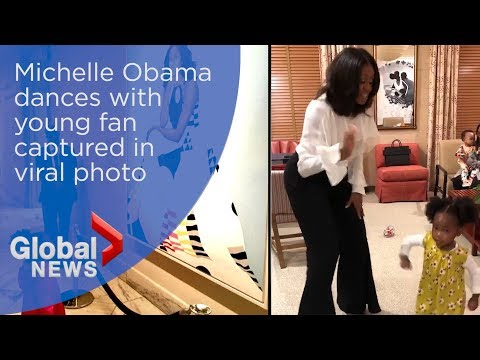 Michelle Obama dances with awestruck 2-year-old fan captured in viral photo